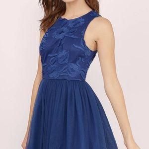 {TOBI} Midnight Lace Tulle Dress